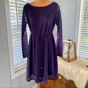 LIZ LANGE pretty purple lace dress! Like NEW!